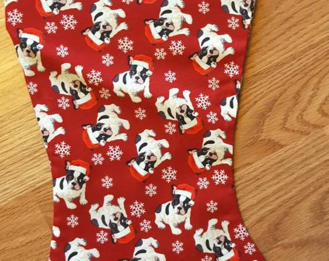 Christmas Bulldog Christmas Stocking