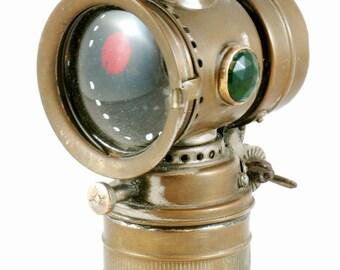 Vintage antique Belgian Vitaphare calcium carbide bicycle light
