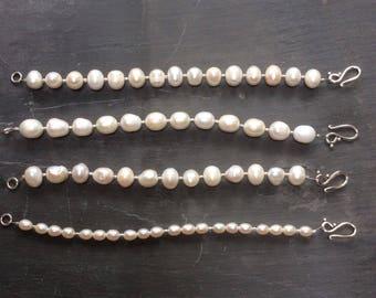 Pearl bracelet, freshwater pearl bracelets, pearl stacking bracelet, boho chic jewellery.
