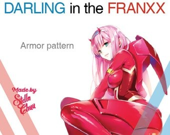 Darling in the Franxx 002 Zero Two Armor Instruction Manual Cosplay Pattern