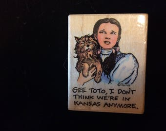 Wizard Of Oz Stamp Dorothy And Toto There's  no Place Like Home