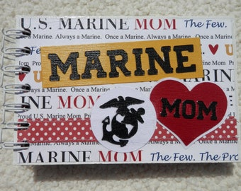 4x6 US Marine Mom Chipboard Mini Scrapbook