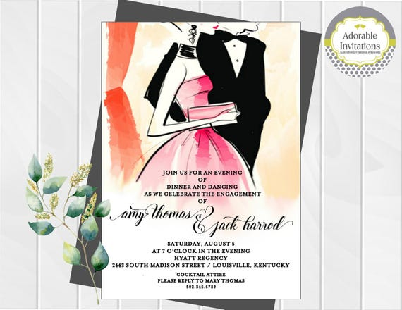 Wedding Dance Only Invitation Wording: Formal Dance Invitation Engagement Party Invitation After