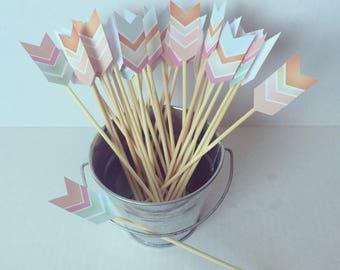 Mini Paper Arrow Skewers