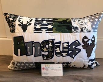 Deer, hunting pillow case, art gallery, personalized pillow case 12x18 inches