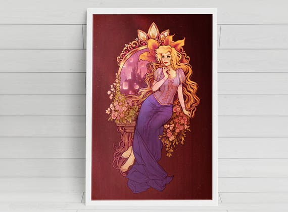 At Last I See the Light - signed Rapunzel Poster Print - 11x17