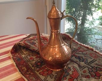 Vintage hammered copper coffee server