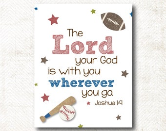 The Lord your God is with you, Art Print