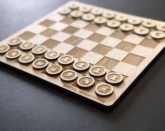 Minimal Chess Set - Laser Cut Chess Set