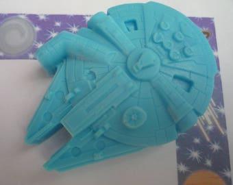millennium falcon inspired handmade soap x 1