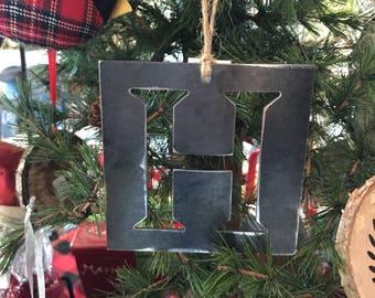 Steel Cut Initial Ornaments