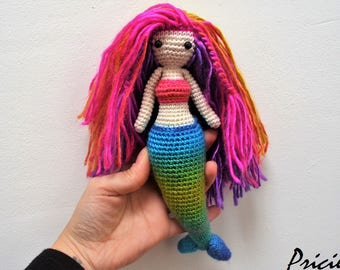 Amigurumi Doll made with crochet, handmade