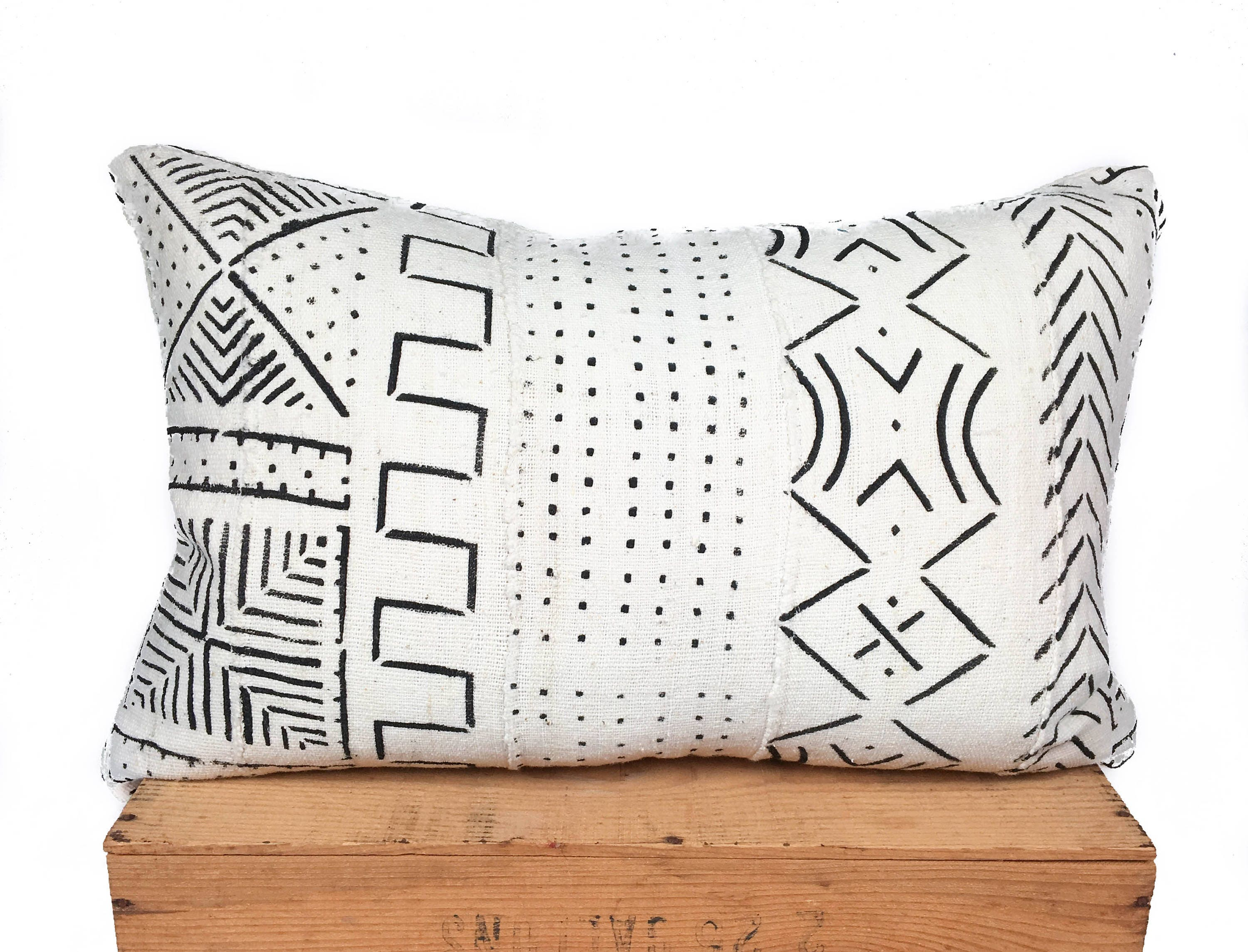 mudcloth pillow mud products african co urban cover vintage black cloth img