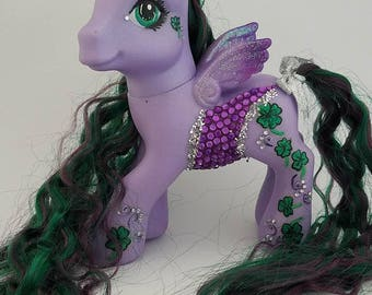 Custom OOAK My Little Pony Toy G3 Night Glider by SimplySteffie MLP