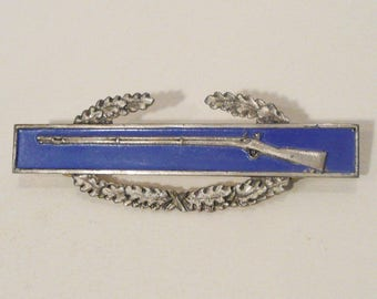 Vintage Sterling World War II United States Army Infantry Pin