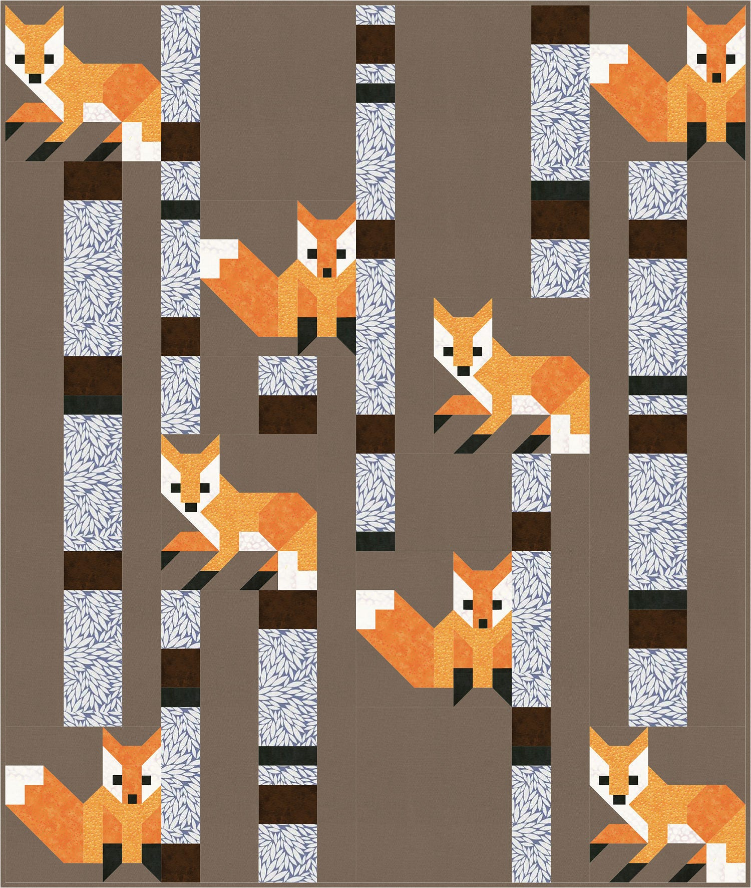 Fox Among The Birches Quilt Pattern Pdf Instant Download