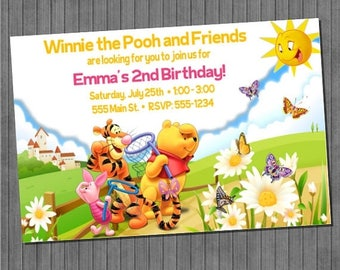 FLASH SALE Winnie the Pooh and Friends Invitations