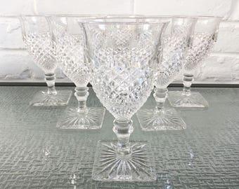 Westmoreland Glass Co English Hobnail Water Goblets