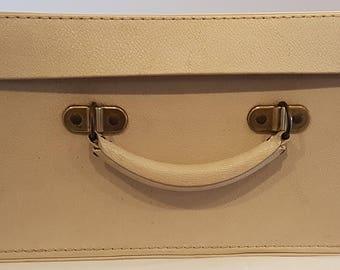 Vintage leatherette suitcase 1950's - 1960's