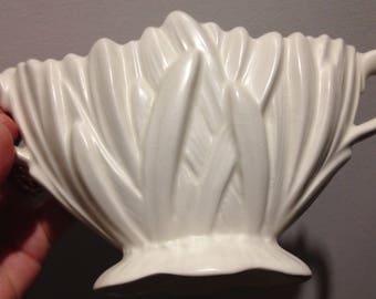 Sylvac Art pottery cream satin glaze hyacinth vintage vase old no damage pattern number 2456