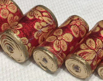 Paper Beads -  Christmas Floral