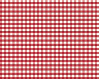Red Gingham by Riley Blake Designs, red fabric, red squares, fabric by the yard, Easter fabric, spring fabric