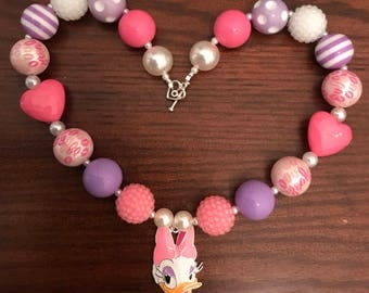 Daisy Duck Disney inspired Bubble Gum Necklace (Child/Toddler).