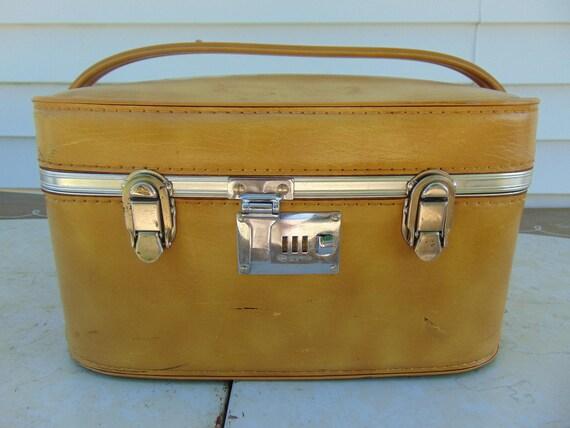 Train Case Vintage Suitcase Train Case Makeup Carry On