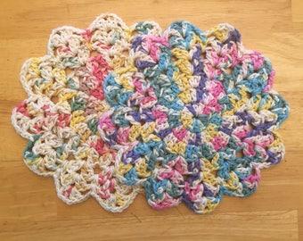 Crochet Dishcloths (variegated pink)
