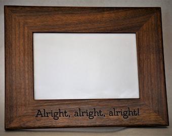 4x6 laser engraved walnut picture frame custom picture frame personalized picture frame 4x6 - Engraved Frame