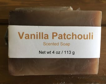 Vanilla and Patchouli Scented Cold Process Soap with Shea Butter