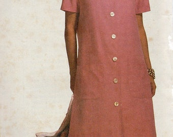 Vintage 1992 McCall's Stitch 'n Save Pattern 5787 FRONT BUTTONED DRESS Misses 12 14 16