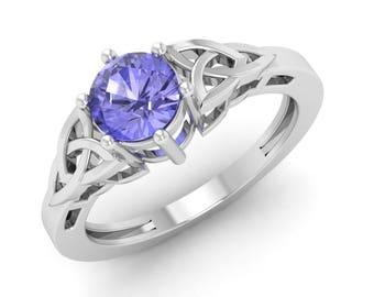 Tanzanite Ring,  14K White Gold, Tanzanite Engagement Ring, Anniversary Ring,Wedding Ring, Stunning Ring, Solitaire Engagement Ring, Ring