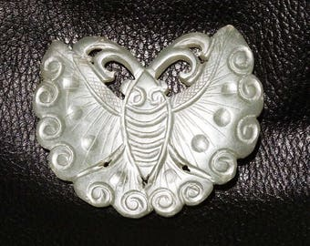 Antique Jade Carving Large Nephrite  Butterfly Qing Dynasty 1800s