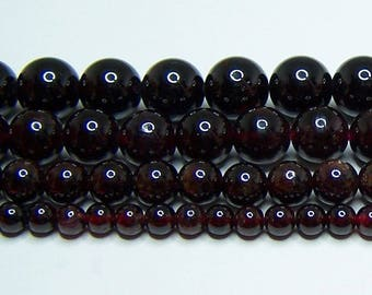 """AA Garnet Cut in China Beads 4mm - 6mm - 8mm - 10mm Real Stone 15.5"""" Strand"""