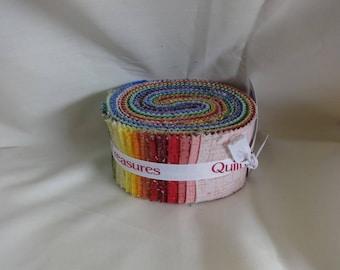 "QT Matrix  2 1/2"" Quilt Strips Bundle Jelly Roll 35 Strips in Bundle"