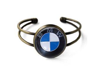 Vintage BMW Emblem Cuff Bracelet