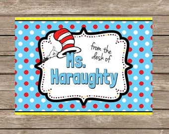 Dr. Seuss From the Desk of Teacher Notecards - Set of 20
