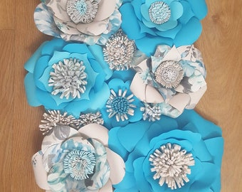 Large paper flowers decoration