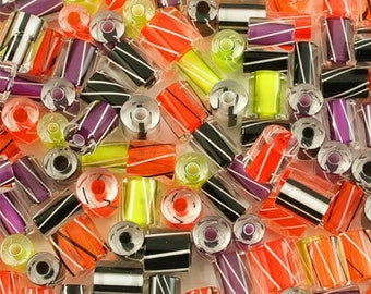 "5 x ""Furnace Glass"" HALLOWEEN beads"