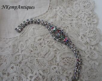 Rainbow glass bracelet 1930's