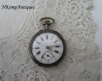 Antique pocket watch real silver 1900 restoration project