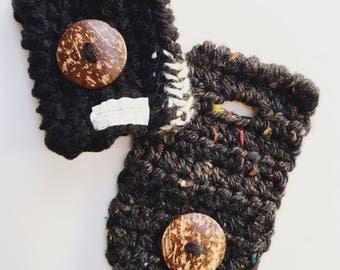 Valentines day scarf cuff, scarves cuff, cuffs, scarves accessory, coconut button cuff, scarf cuffs