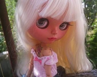 Blythe outfit, Jeans for blythe, blythe set, blythe dress, doll dress, blythe couture, bjd clothes, blythe fashion