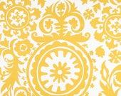 2.5 yards suzani corn yellow twill home decor fabric