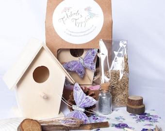 Fairy House Garden Kit, Fairy Birthday Gift, Fairy Party Favour, Flower Girl Gift.