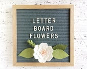 Flowers for your Letter Board  - Add-ons for Felt Letter Boards - Decor for Photo Props, Parties, Showers and Every Day