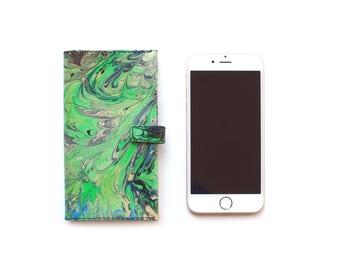 Luxury Designer Leather iPhone 6/6S flip case wallet, Handmade