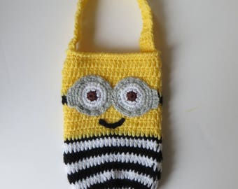 School Water Bottle Bag,  Minions 3, Drink Bottle Holder, school  accessories, despicable me 3, bottle carrier, Cozy, Tote, gifts for kids