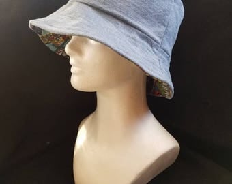 Repurposed Fabric Bucket Hat
